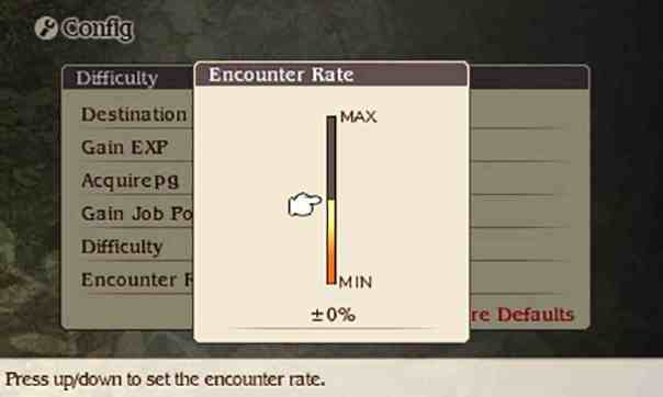 Bravely Default's encounter slider.